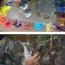 Albert Handell Oil Painting Dvd- Mystery Falls
