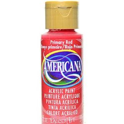 Decoart Americana Acrylic Paints Primary Red 2 Oz. [Pack Of 8 ]