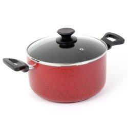Oster 91116.02 Telford Covered Dutch Oven, 6-Quart, Red