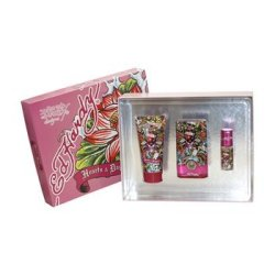 Hardy Hearts & Daggers Perfume By Christian Audigier For Women. 3 Pc. Gift Set