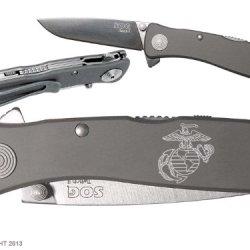 Usmc Marines Anchor Custom Engraved Sog Twitch Ii Twi-8 Assisted Folding Pocket Knife By Ndz Performance
