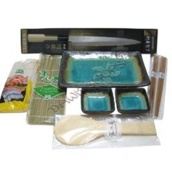 9 Piece Sushi Gift Set Green
