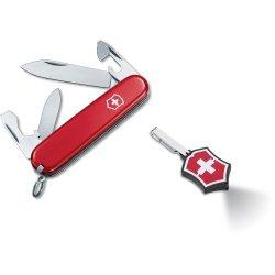 Victorinox Swiss Army Red Recruit Pocket Knife / Microlite Led Combo Set - 55241