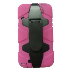 Meaci® Iphone 5C 3 In 1 Pink Defender Body Armor With Tpu Clip Against Shocks Hard Case