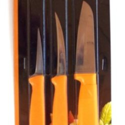 Thai Fruit And Vegetable Carving Knives, Pop Art Carve Knife. Set Of 3