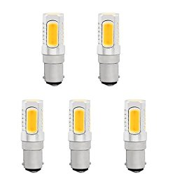 Hero-Led T4 Dc Bayonet Ba15D Base Led Halogen Replacement Bulb, 120 Volts, Stage And Studio Lamps, 350 Lumen, 35W Equal, 5-Pack, Warm White 2700K