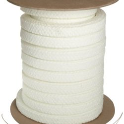 """Palmetto 1347Af Series Synthetic With Ptfe & Lube Compression Packing Seal, White, 1/4"""" Square, 5' Length"""