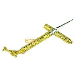 Carving Knife Dragon Head Grand Gold Gold Thai Knive Fruit Vegetable Soap Design Art New, All Metallic Handmade Job