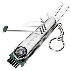 """Green Ace Golf Tool W/ Belt Pouch, Stainless Steel 3.5"""" X .75"""" In Gift Box, Free Engraving!"""