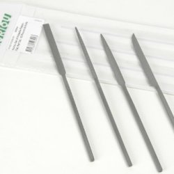 Auriou Set Of 4 Needle Rasps - Flat - Rat Tail - 1/2In. Round & Knife
