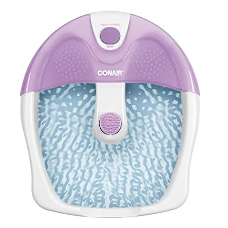 A luxurious spa experience awaits you with Conair's relaxing foot bath. Step into the vibrating, soothing foot spa. Easy toe-touch control allows you to activate all the features.