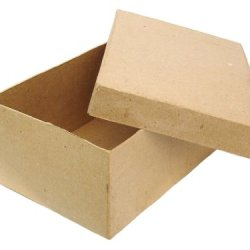 Paper Mache Rectangle Box 7 1/2 In. By Craft Pedlars