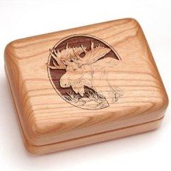"3X4"" Box With Money Clip/Pocket Knife - Moose Head"
