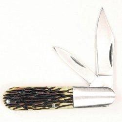 Ruko 3-5/16-Inch 2-Blades Delrin Deer Horn Handle Pocket Knife