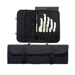 Update International Black Cutlery Pouch, 20 1/2 X 6 1/4 X 2 1/4 Inch -- 1 Each.