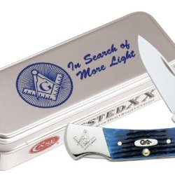 Case Cutlery 02628 Case Lockback Pocket Knife, Blue Bone