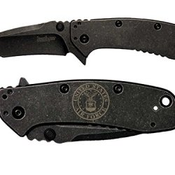 Usaf Air Force Round Logo Engraved Kershaw Cryo Ii Tanto Blackwash 1556Tbw Folding Speedsafe Pocket Knife By Ndz Performance