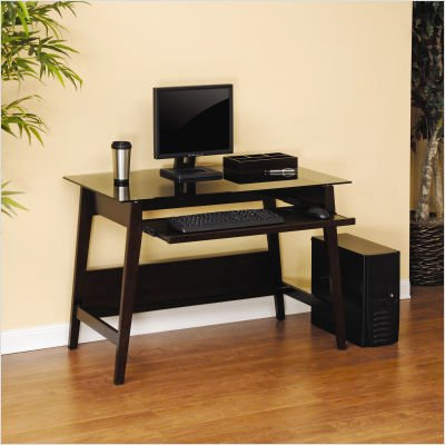 Picture of Comfortable Steadfast Grand Lake Series Computer Desk in Espresso (B003SLRX3U) (Computer Desks)