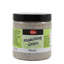 Viva Decor 8-1/2-Ounce Modeling Grass Textured Paint With Natural Fiber, Natural