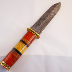 "Dkc-39 Indiana Jones"" Dagger Style Hunting Knife Damascus Knife Company"