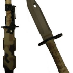 Ultimate Arms Gear Tactical Limited Edition British Multi Terrain Camo Camouflage Handle Stainless Steel M9 M-9 Military Survival Blade Bayonet Knife With Tactical Sheath Scabbard
