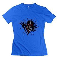 Women Airborn Back 3 T-Shirts - Funny Custom Royalblue T Shirt