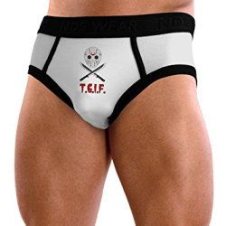 Scary Mask With Machete - Tgif Mens Nds Wear Briefs Underwear - Small