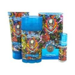 Ed Hardy Hearts & Daggers By Christian Audigier Gift Set -- 3.4 Oz Eau De Toilette Spray + 3 Oz Shower Gel + 2.75 Oz Deodorant Stick + .25 Oz Mini Edt For Men
