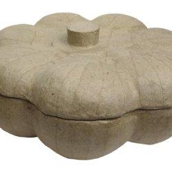 Paper Mache Pumpkin Candy Bowl Small Kraft By Craft Pedlars