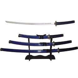 Trademark Blue Samurai 3 Pc Sword Set