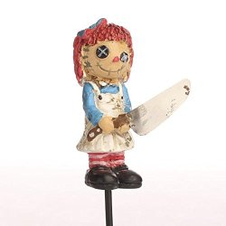 Miniature Resin Zombie Raggedy Anne Figure For Fairy Gardens, Halloween Displays And Decorating