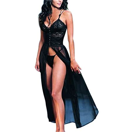 This sexy lingerie with special retro design  can well bring out your beautiful body, outlining the slender leg lines and good hip. Moreover, the soft material keeps its shape with repeated wear. Black sheer makes you to be a mysterious, seductive an...