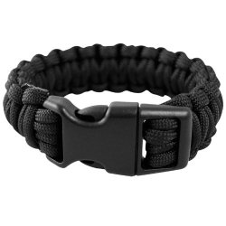 Mil-Tec Paracord Wrist Band 15Mm Black Size S