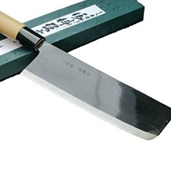Michio Ishikawa Nakiri Chefs Knife Japanese Knife 165Mm Shirogami Steel Black Blade Cutlery