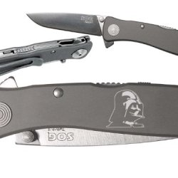 Darth Vader Custom Engraved Sog Twitch Ii Twi-8 Assisted Folding Pocket Knife By Ndz Performance