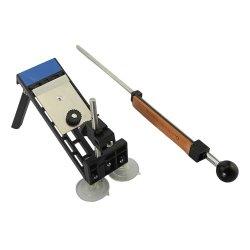Dbpower(Us Seller) Professional Kitchen Knife Sharpener Sharpening System Fix-Angle 4 Stones Color Black