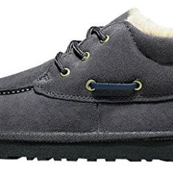 Milanao Unixex Men Warm Pure Color Cotton Shoelace Windproof Snow Boots(Lover Shoes)(10D(M)Us,Gray)
