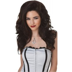Seductress Brunette Wig Costume Accessory