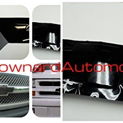 """Chevy Bowtie Emblem Vinyl Black Decal (Overlay) You Cut From (2) 11"""" X 4"""" Universal Rectangular Sheets - Wrapping Instructions Included - Customize Your Silverado Camaro Cruze Equinox Etc."""