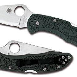 Spyderco Delica 4 Green Zdp-189 Folding Knife