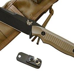 Benchmade 140Bksn Nimravus Fixed Blade Knife W/ Free Benchmade Sharpener