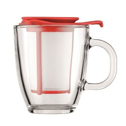 Bodum Yo-Yo Set Red Mug And Tea Strainer 0.35L / 12Oz