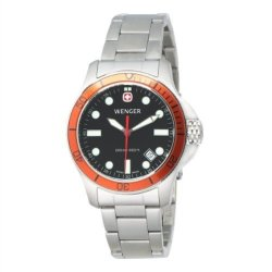 Men'S Wenger 72347 Battalion Iii Diver Watch With Stainless Steel Band