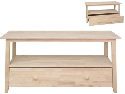 Image of 47.5'' Wide TV Stand- Unfinished (B0053ZEUTO)