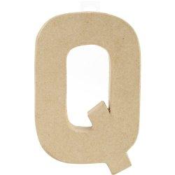 Prima Marketing Paper-Mache Letter, 8 By 5.5-Inch, Letter Q