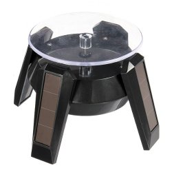 Solar Powered Jewelry Phone Watch Rotating Display Stand Holder