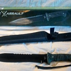 """Tac Assault Bowie Camo Hunting Knife With Sheath 15"""""""