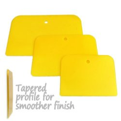 3-Piece Non-Stick Poly Bondo Putty Filler Spreaders