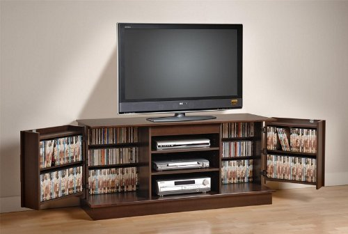 Image of Plasma TV Stand Console Table - Espresso Finish (AZ00-31642x20968)