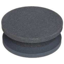 "Norton Crystolon Abrasive Machine Knife Stone, Silicon Carbide, 4"" Diameter X 1-1/2"" Thickness, Grit Coarse/Fine (Pack Of 5)"